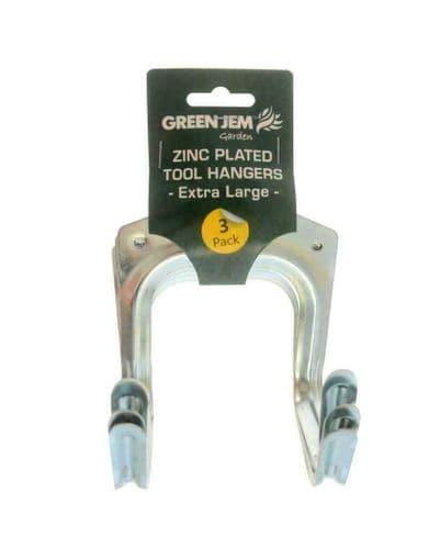 Lg Tool Hangers Pack of 6 - Garage Shop Garden Storage Tool Utility Double Hooks